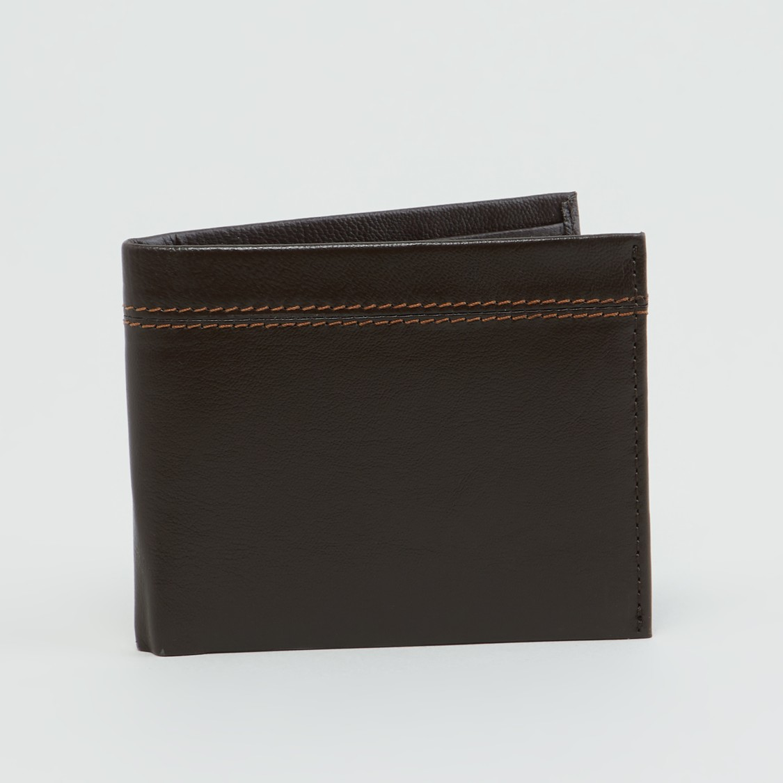 Stitch Detail Bi-Fold Wallet with Multiple Cardholders