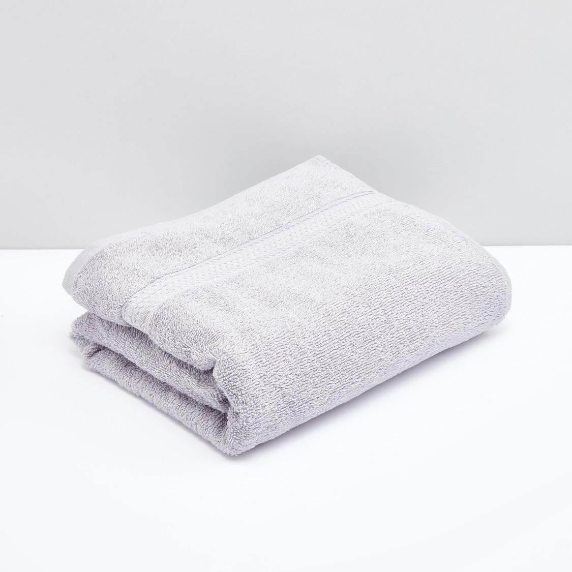 Rectangular Bath Sheet with Plush Detailing