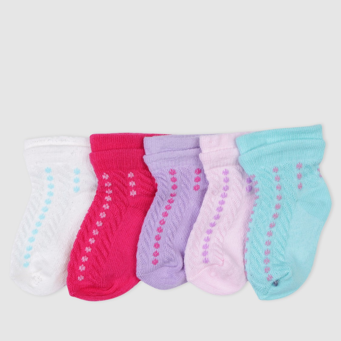 Woven Ankle Length Socks - Set of 5