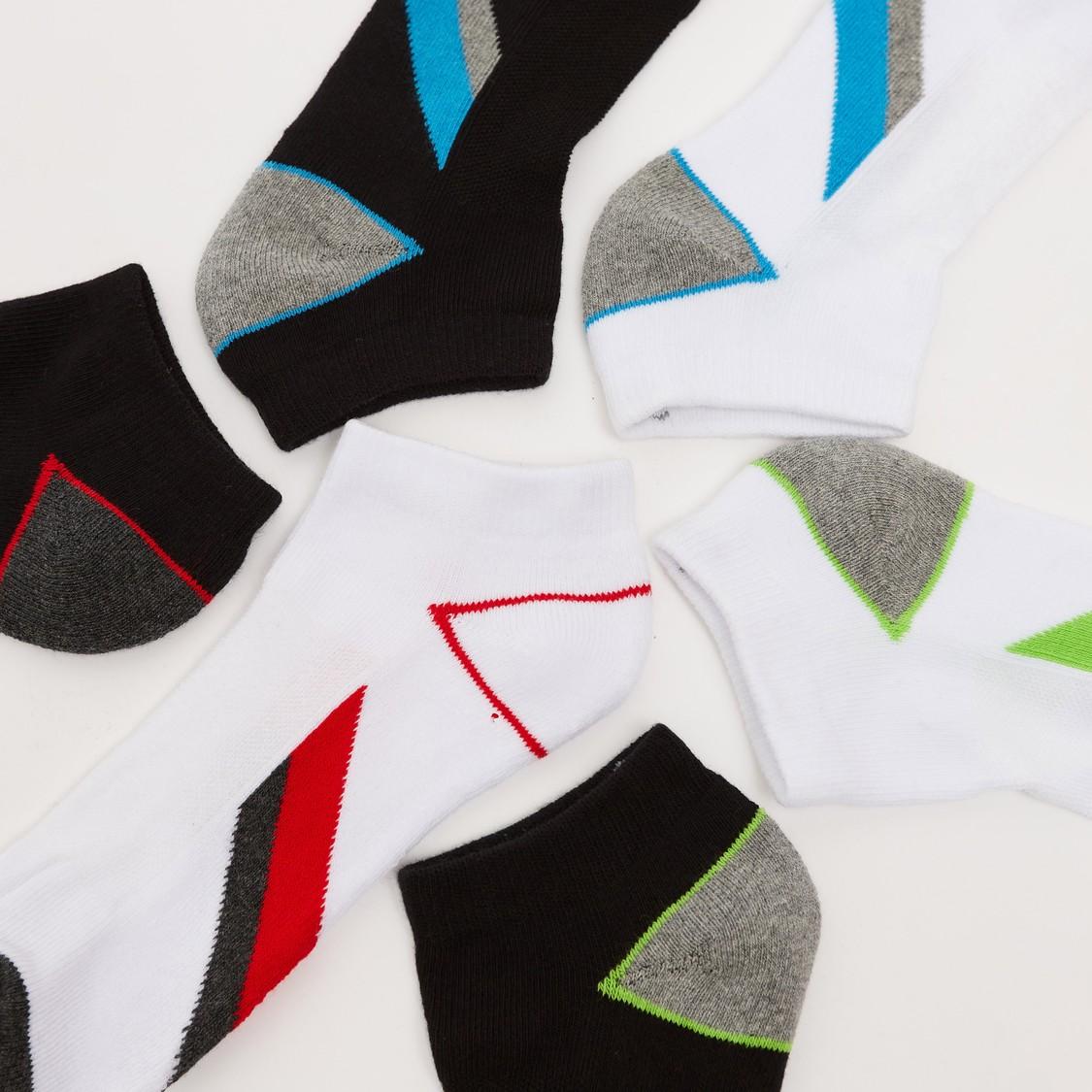 Pack of 6 - Printed Ankle Length Socks