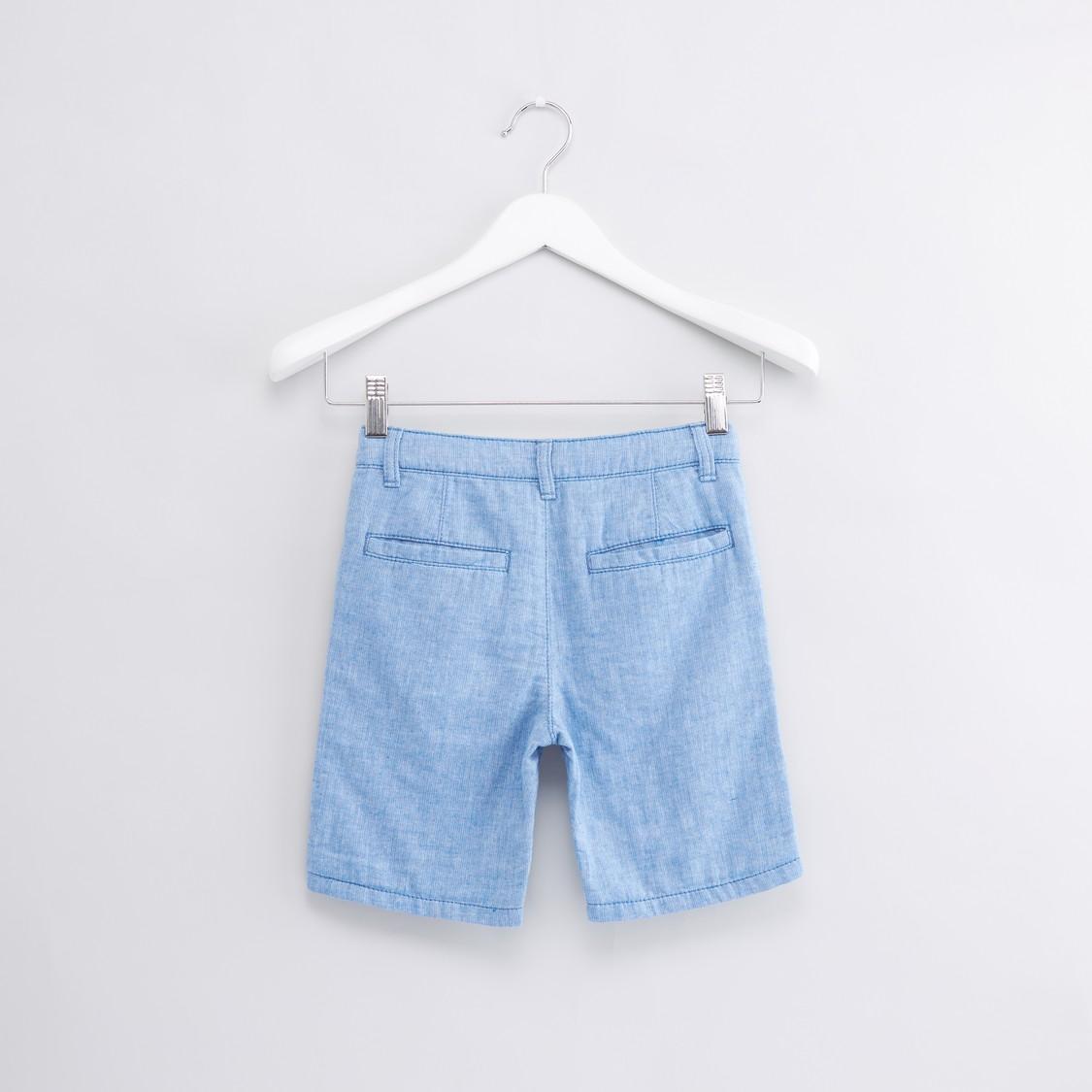 Pocket Detail Shorts with Drawstring