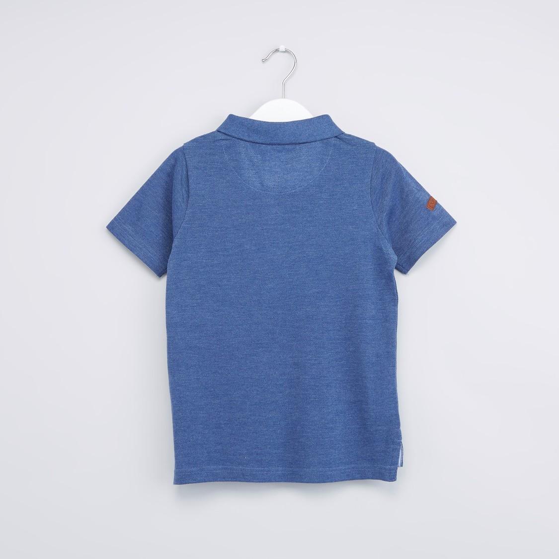 Pocket Detail Polo Neck T-Shirt