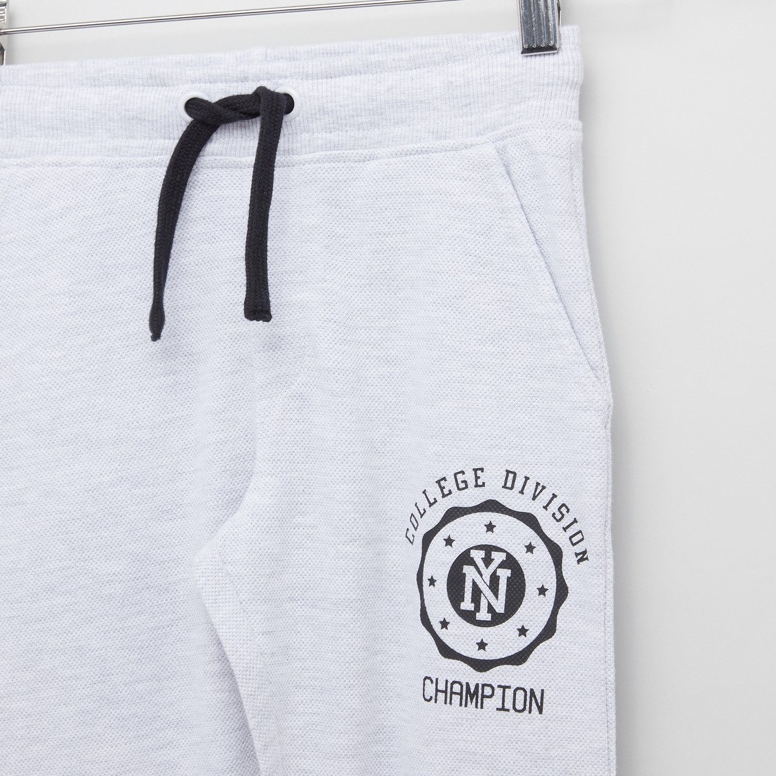 Printed Cuffed Joggers with Drawstring Closure