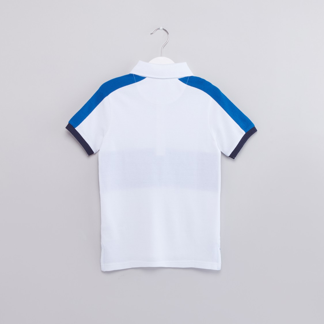 Panel Detail Polo Neck Short Sleeves T-Shirt