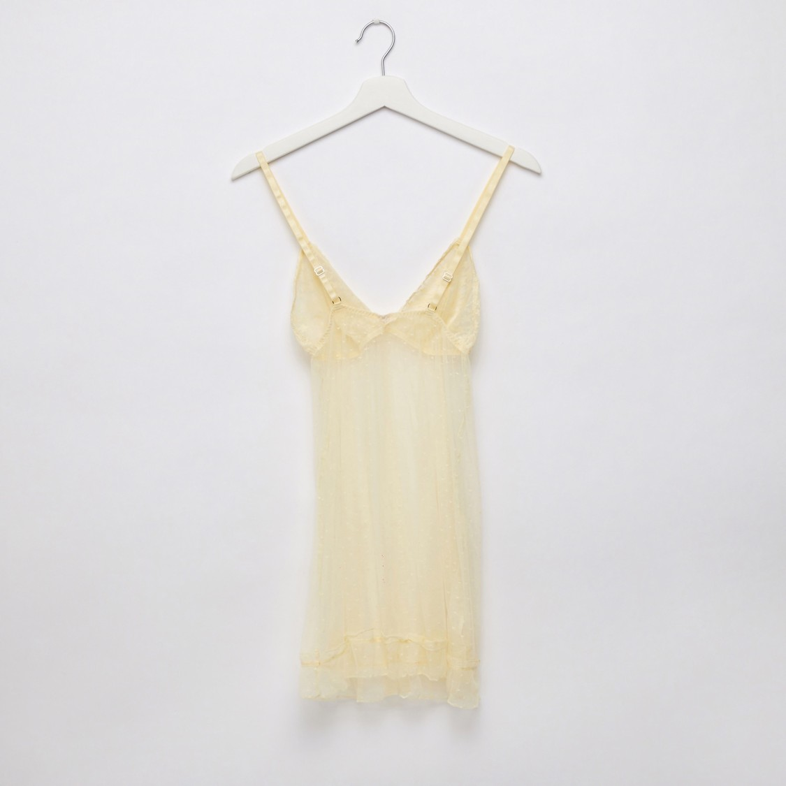 Textured Babydoll Dress with Thongs