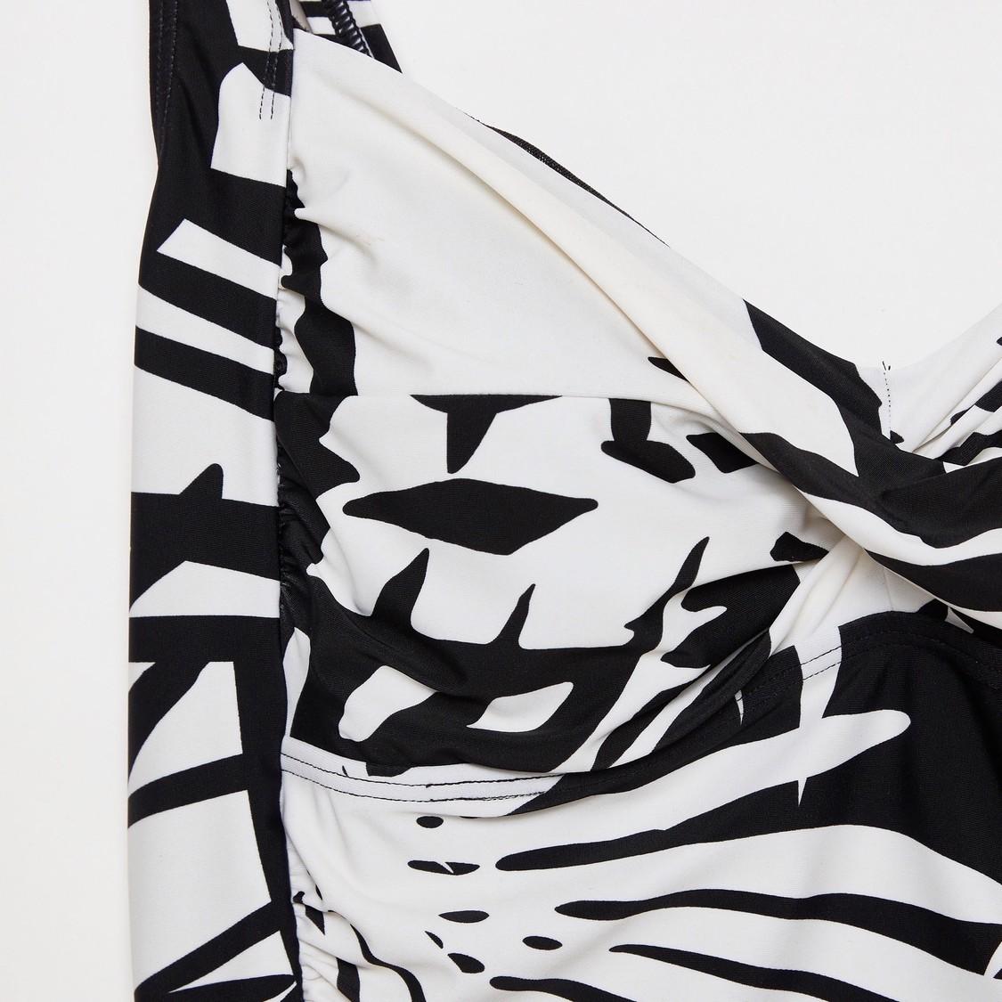 Printed Sleeveless Swimsuit