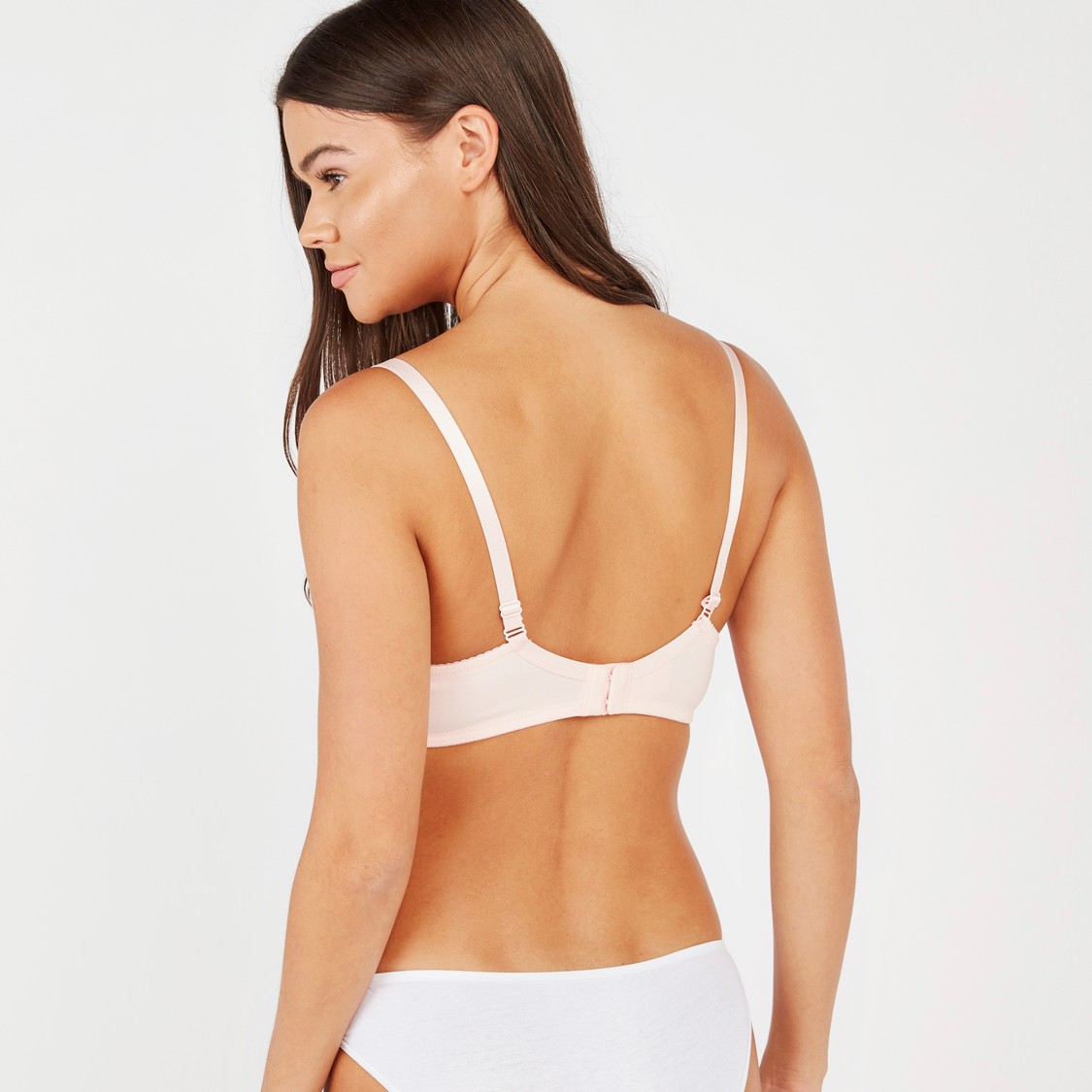 Lace Detail Maternity Bra with Hook and Eye Closure
