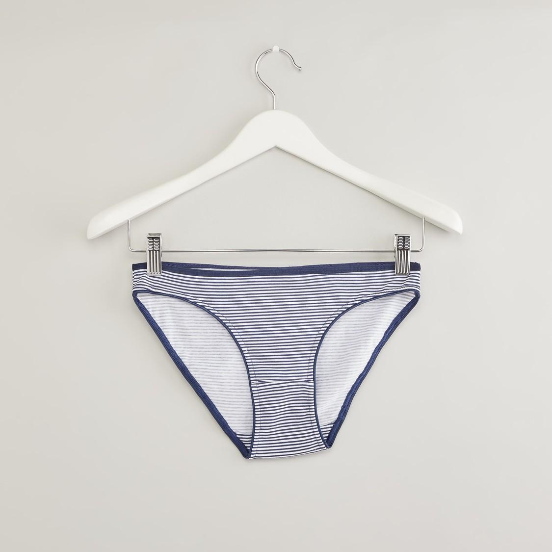 ملابس داخلية بكيني بخصر مطاطي - طقم من 5 قطع