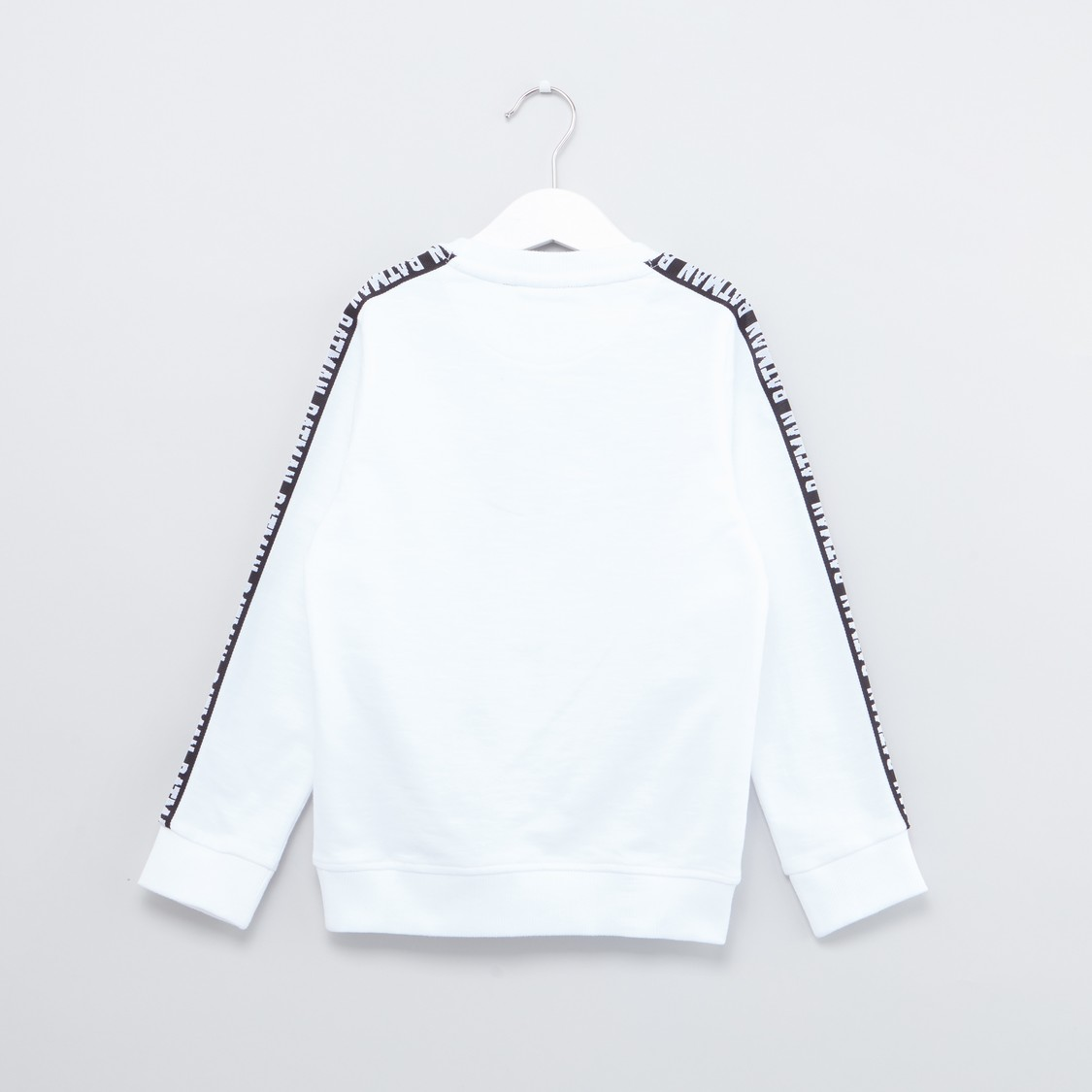 Batman Printed Sweatshirt with Long Sleeves