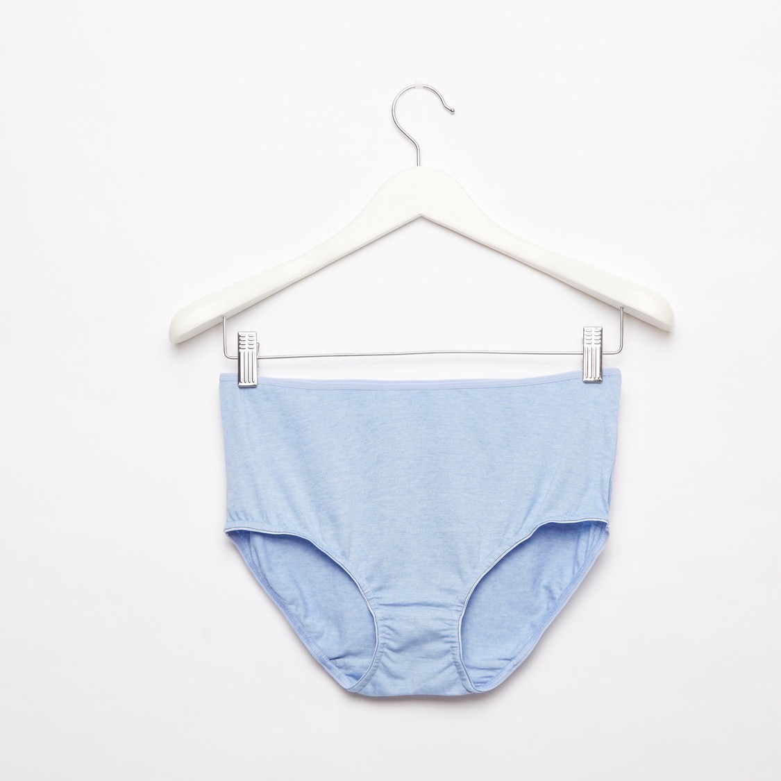 Set of 5 - Solid Midi Briefs with Elasticised Waistband