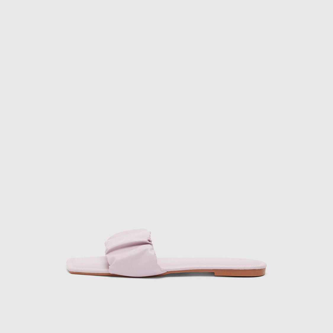 Solid Flat Slides with Patterned Strap