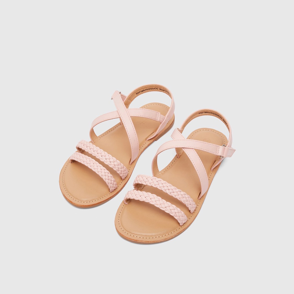 Strappy Open-Toe Sandals with Hook and Loop Closure