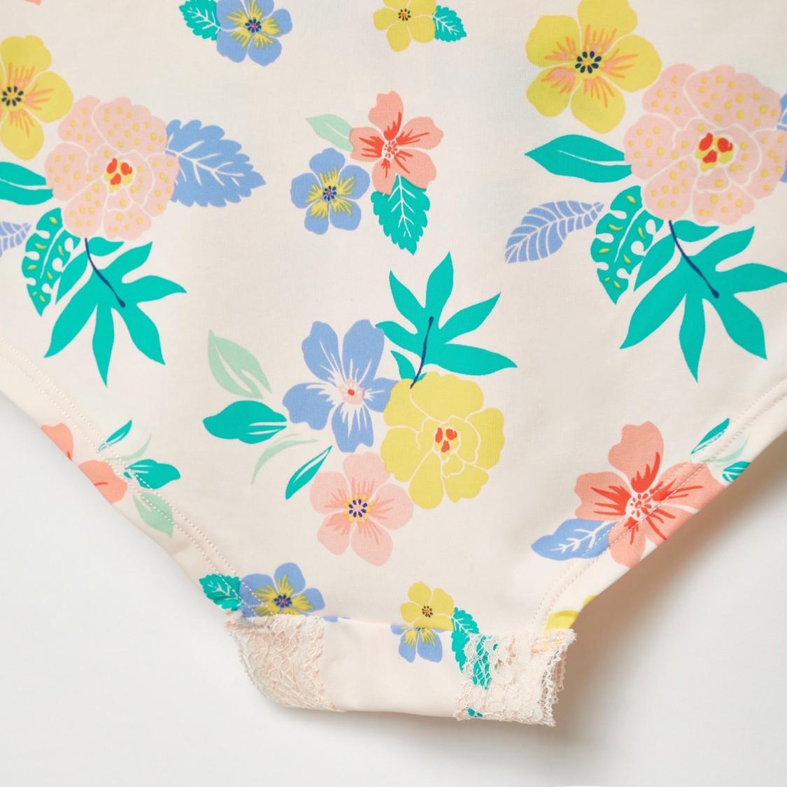 Floral Print Boyshort Briefs with Elasticated Waist