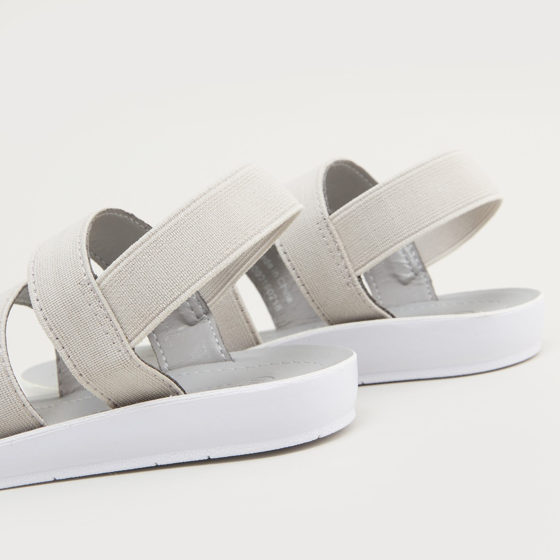 Multi-Strap Sandals with Elasticised Slingback