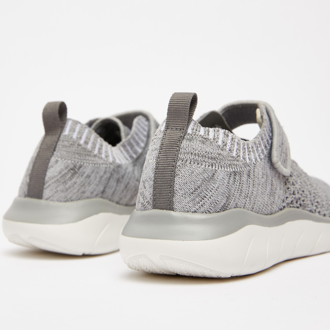 Textured Sports Shoes with Perforation Detail and Pull Tab