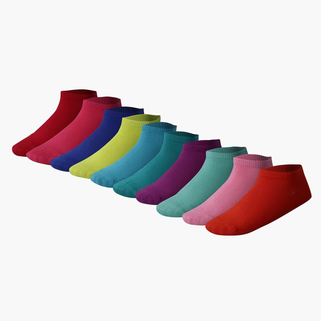 Ankle Length Socks - Set of 10