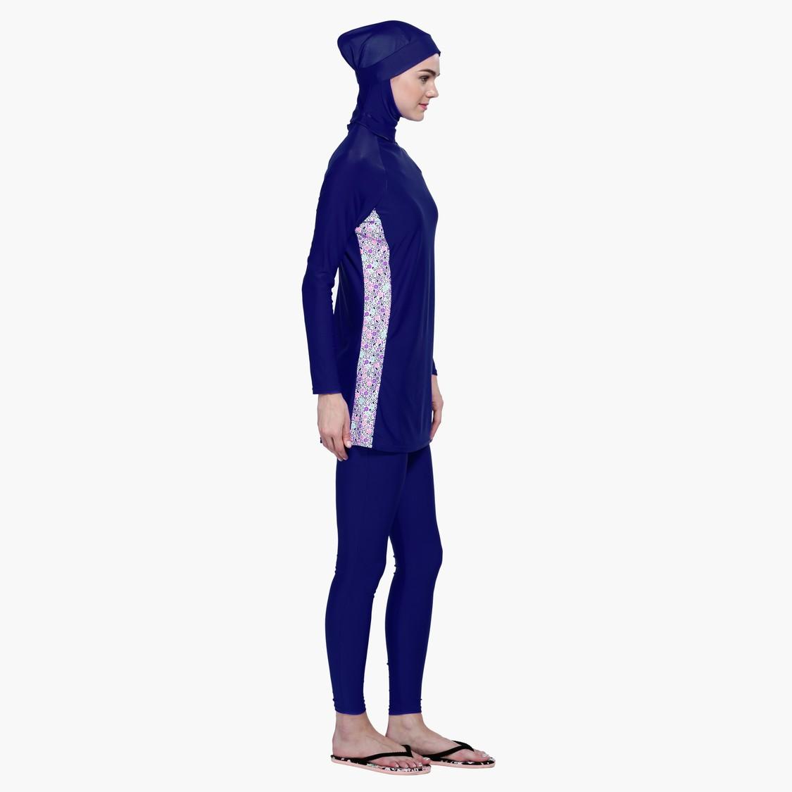 ملابس سباحة بوركيني بأكمام طويلة