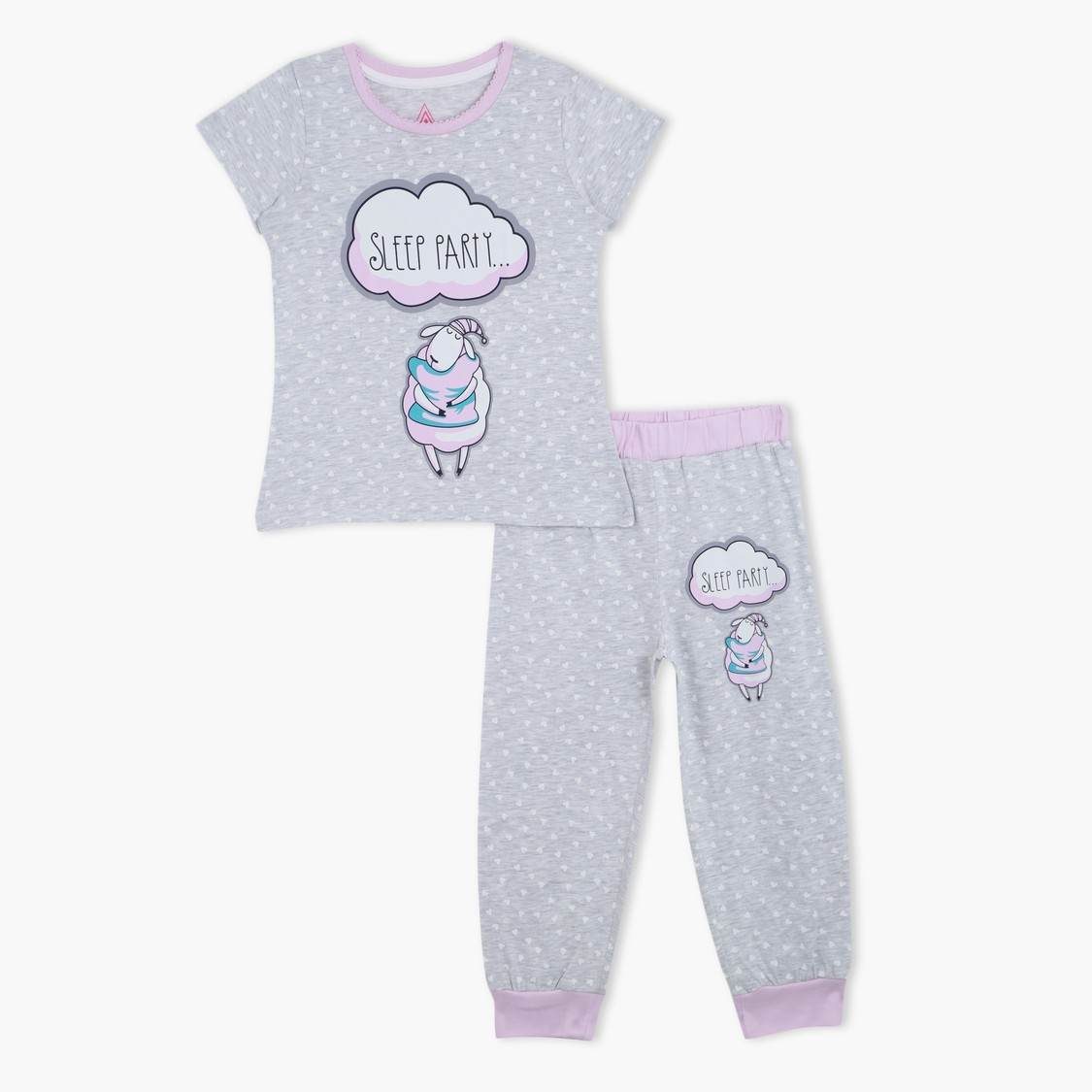 Printed T-Shirt and Pyjama - Set of 2