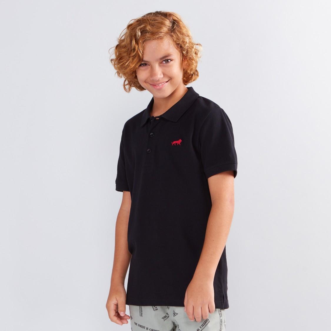 Polo Neck Short Sleeves T-Shirt