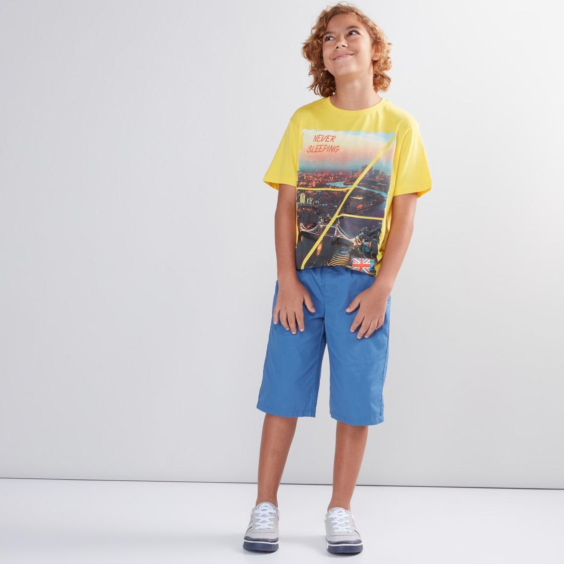 Printed Round Neck Short Sleeves T-Shirt
