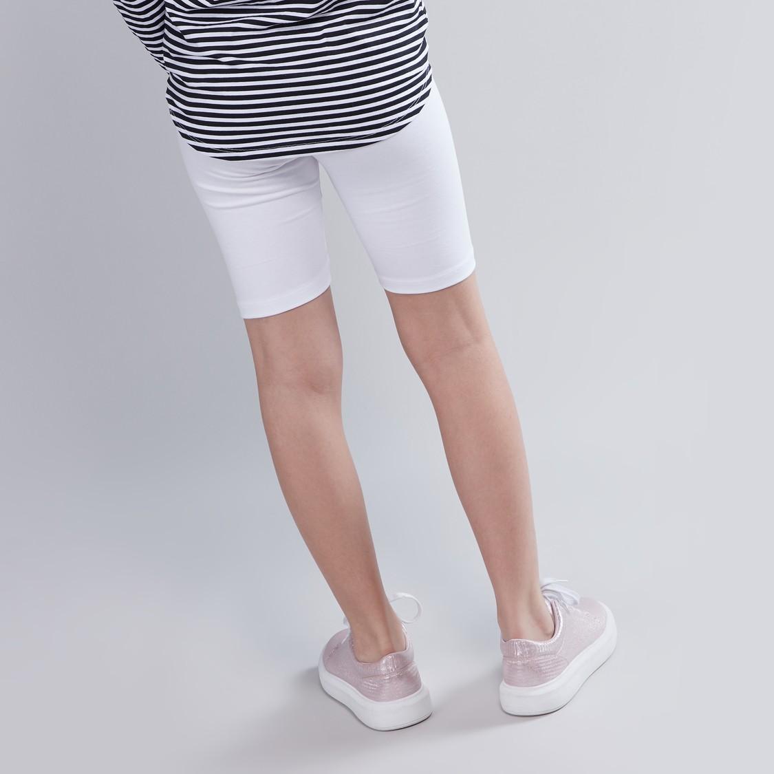 Plain Cycling Shorts with Elasticised Waistband