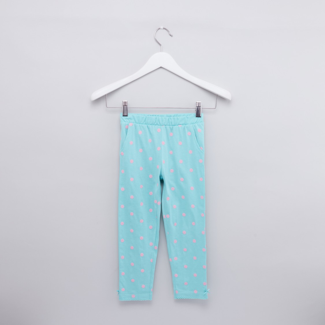 Polka Dot Printed Top and Pyjama Set