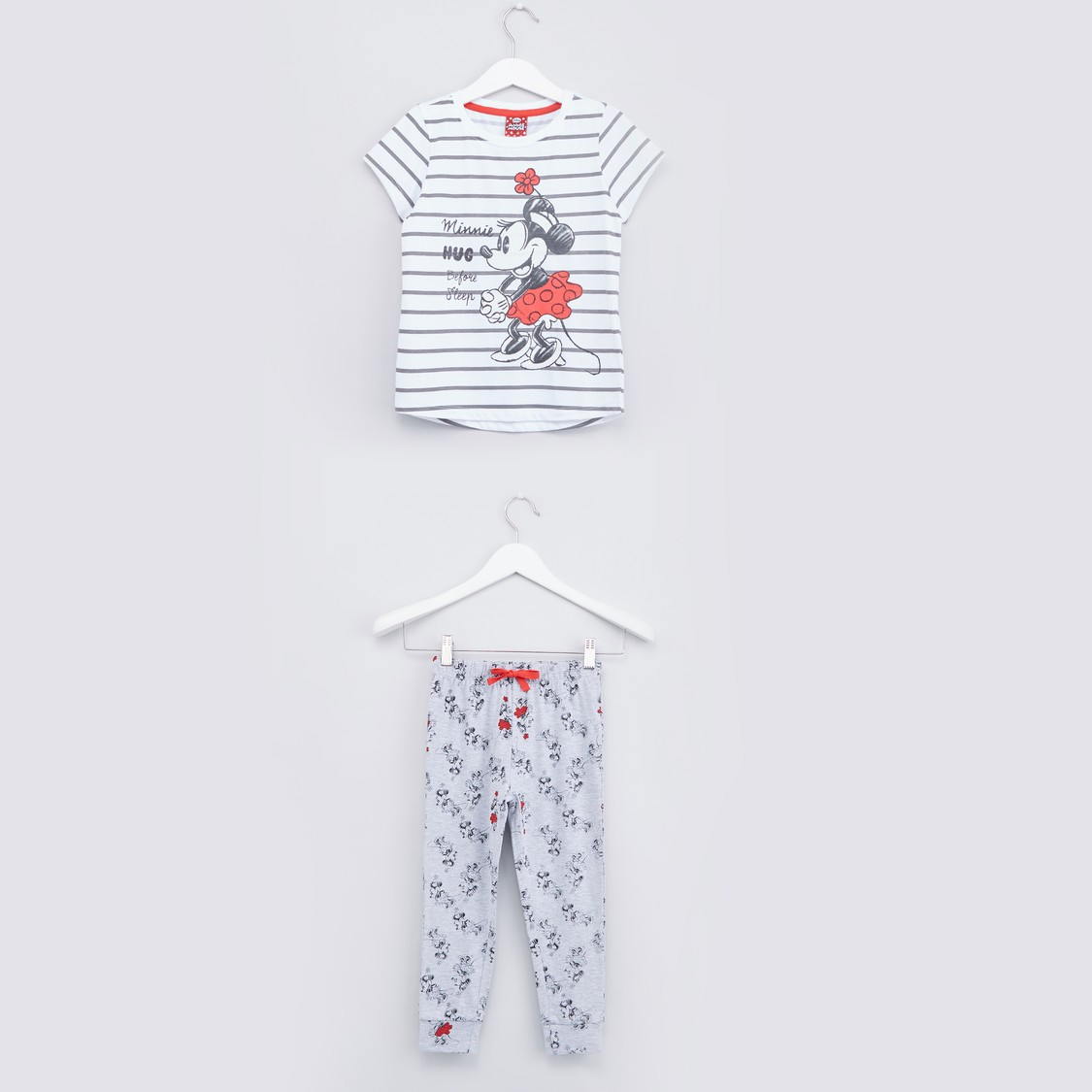 Minnie Mouse Printed T-shirt with Jog Pants