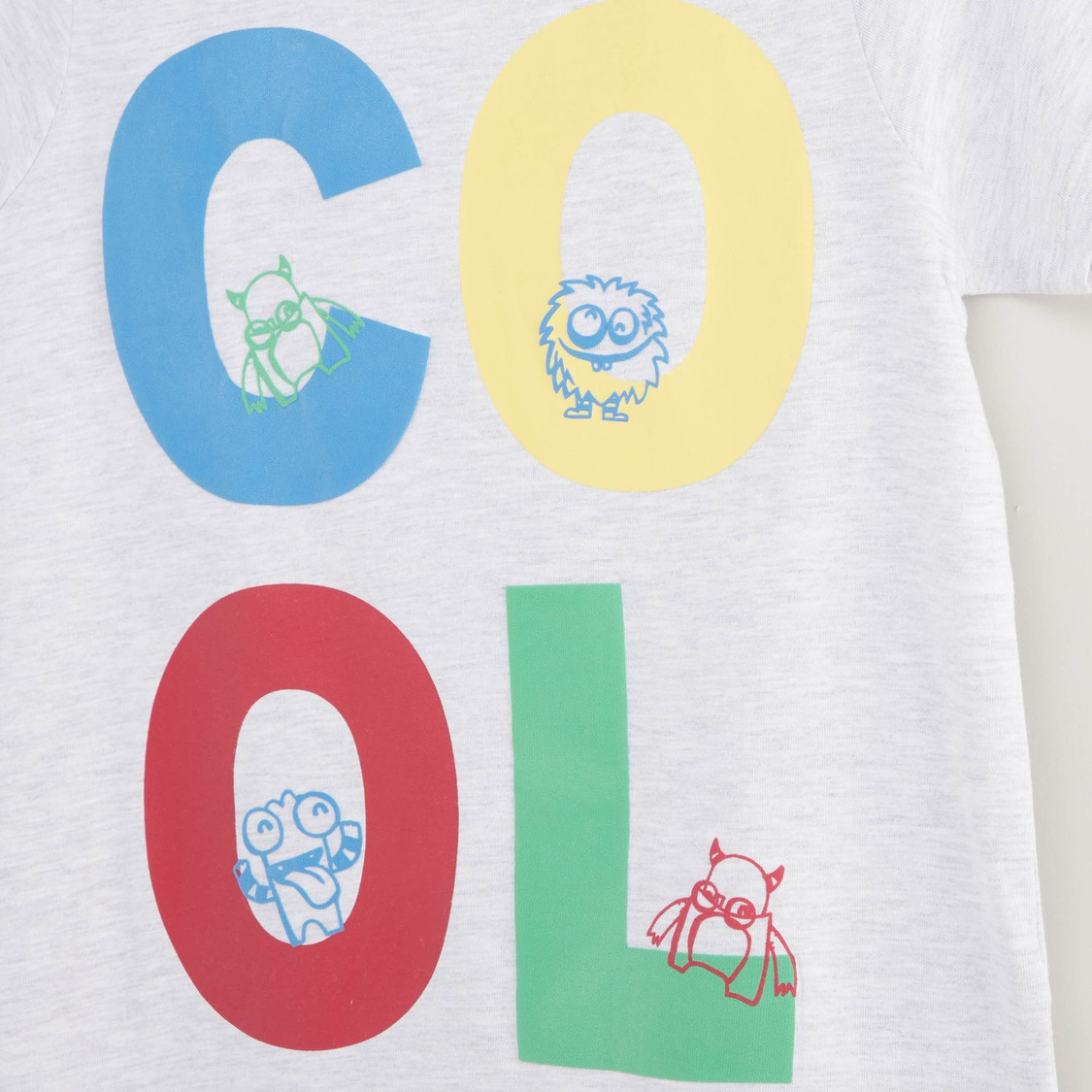 Cool Print Short Sleeves T-shirt and Pyjama Set