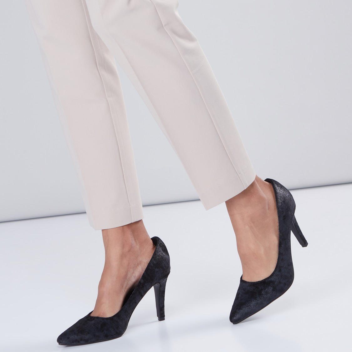 Textured Slip-On Pumps