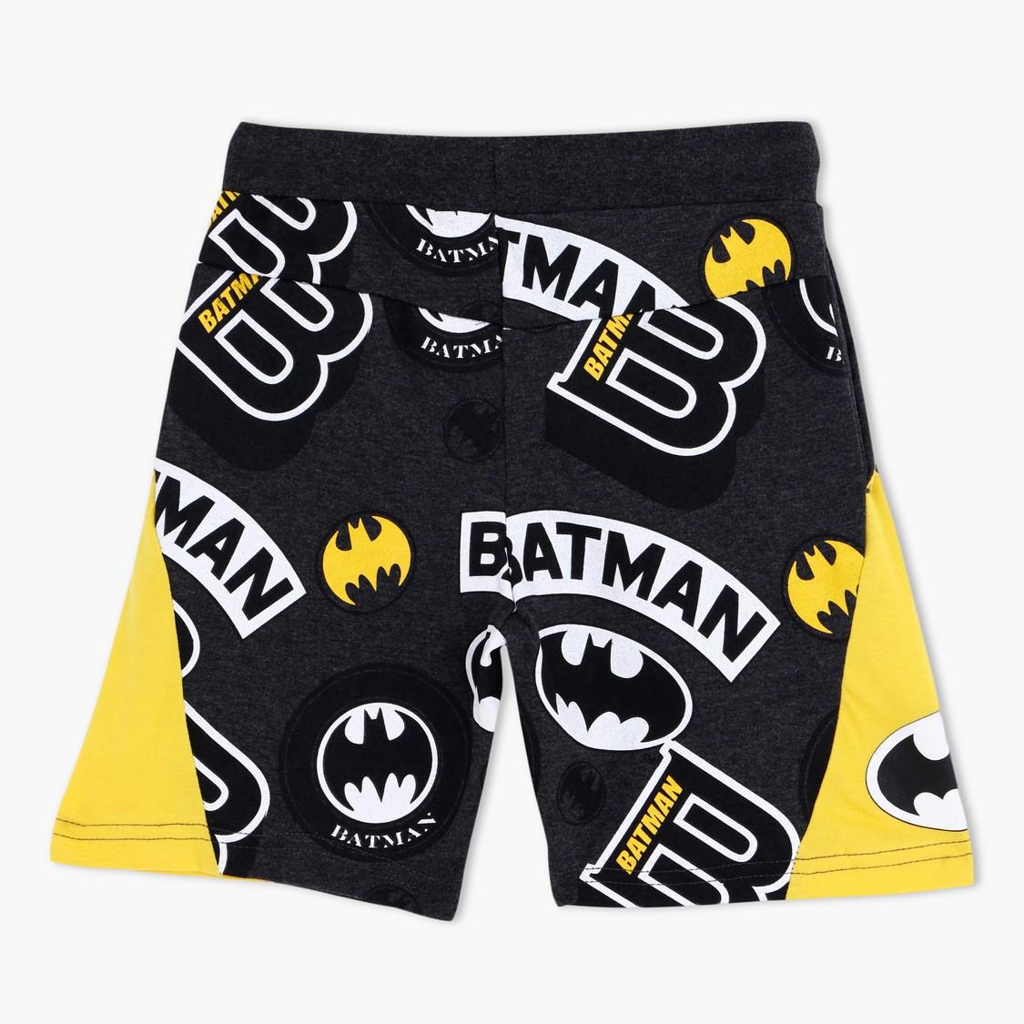 Batman Printed Shorts with Drawstrings
