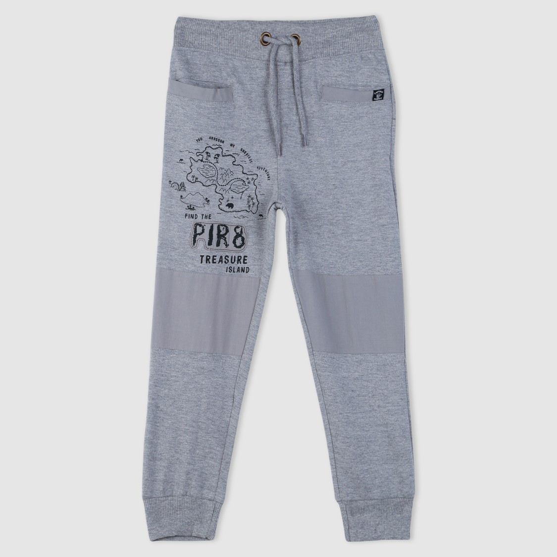Printed Full Length Jog Pants with Elasticised Waistband