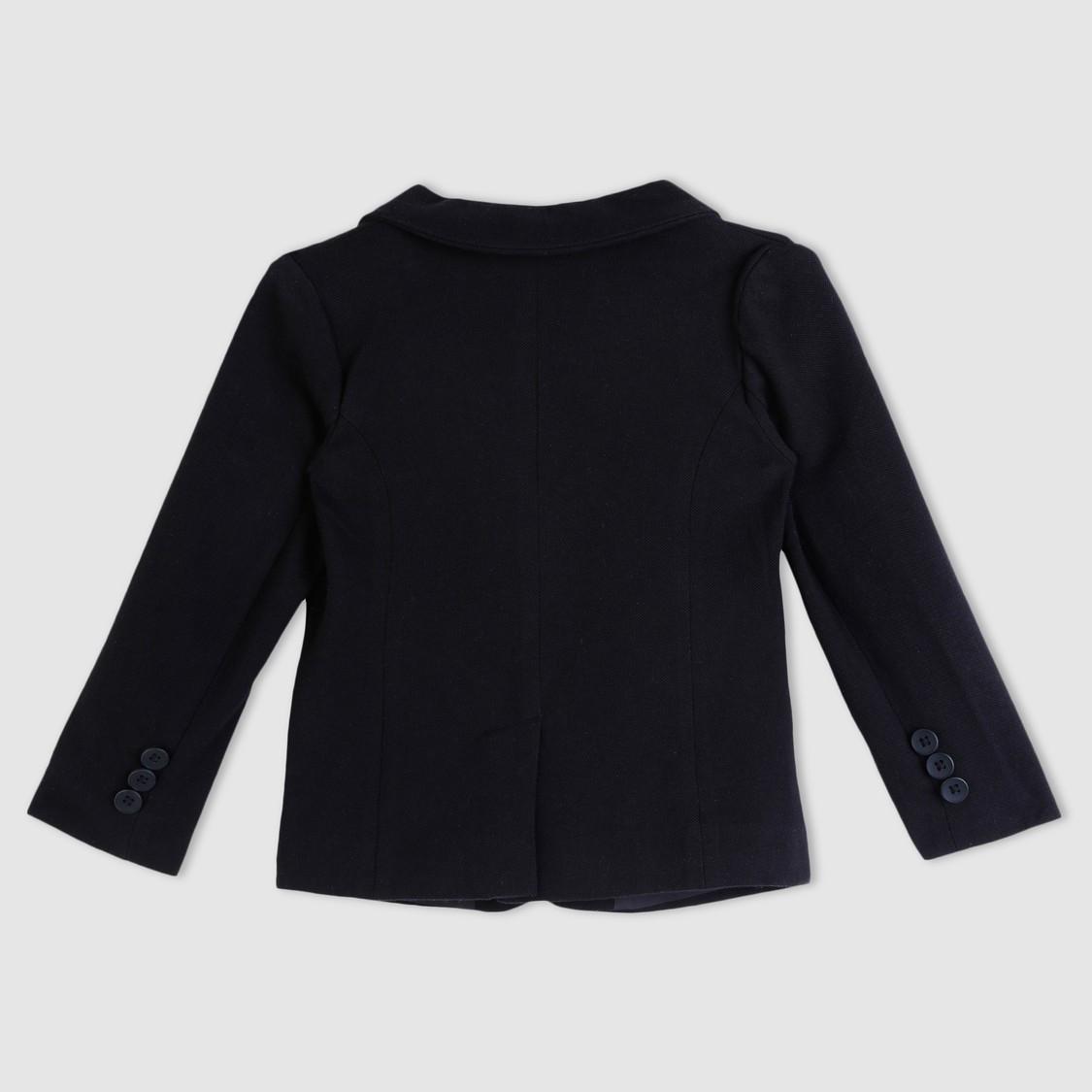 Notch Collar Long Sleeves Blazer