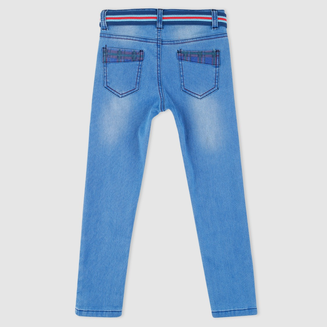 Full Length Jeans with Belt Detail