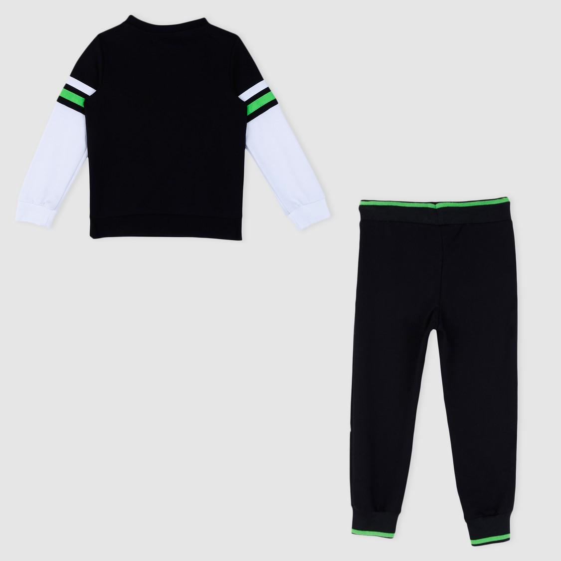 Printed T-Shirt and Jog Pants Set