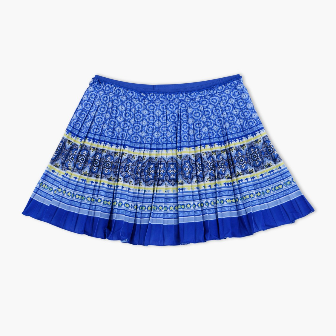 All Over Print Pleated Skirt