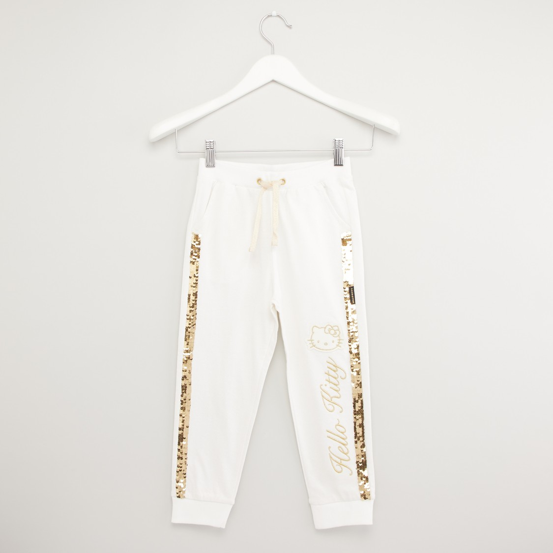 Hello Kitty Embroidered Jog Pants with Sequin Detail