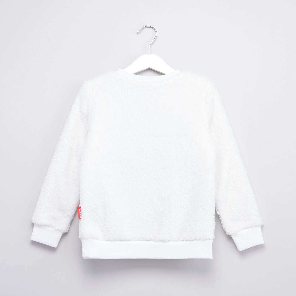 Hello Kitty Embroidered Sweatshirt with Round Neck and Long Sleeves