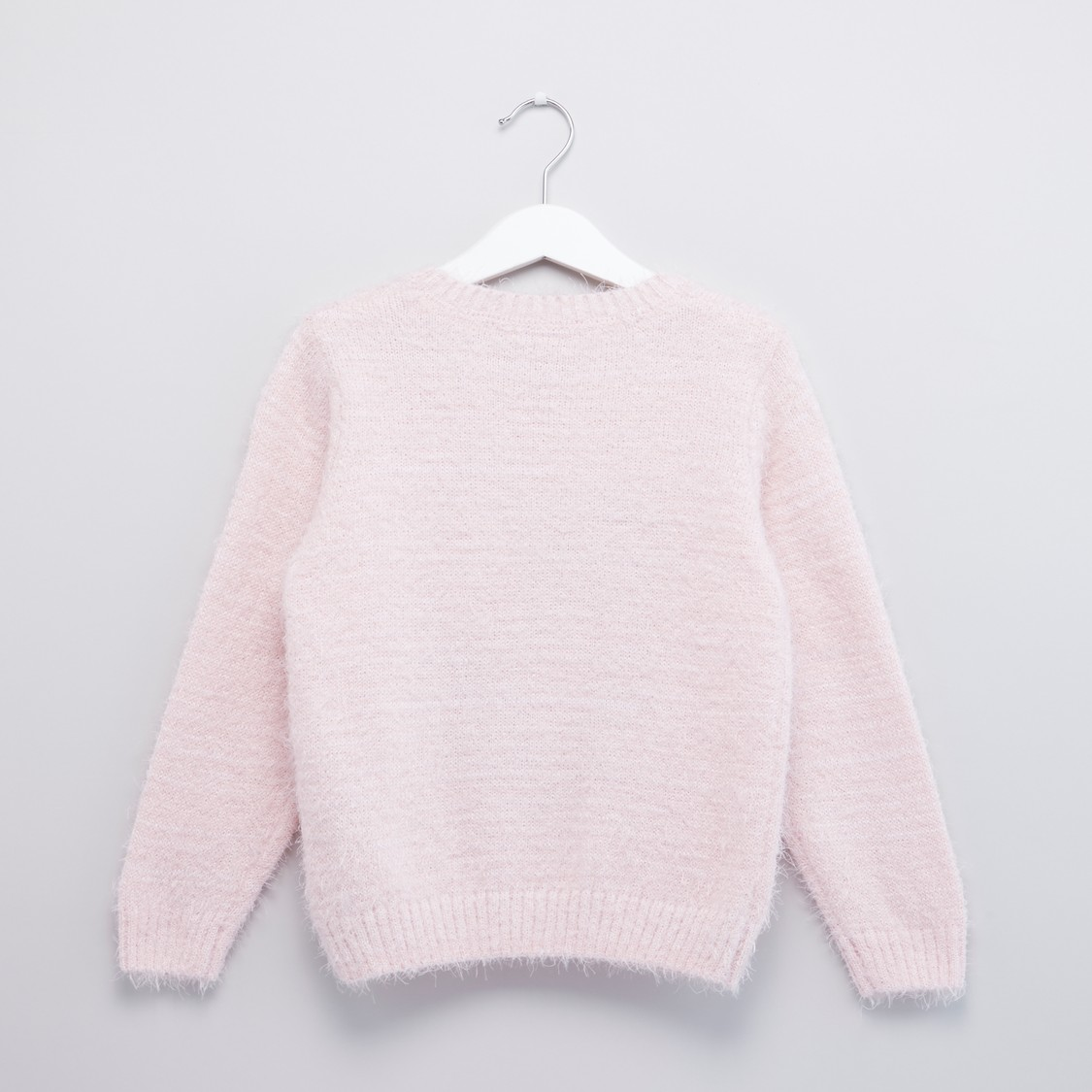 Sequin Detail Sweater with Long Sleeves