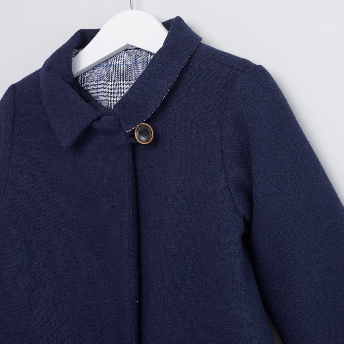 Plain Jacket with Long Sleeves and Pocket Detail