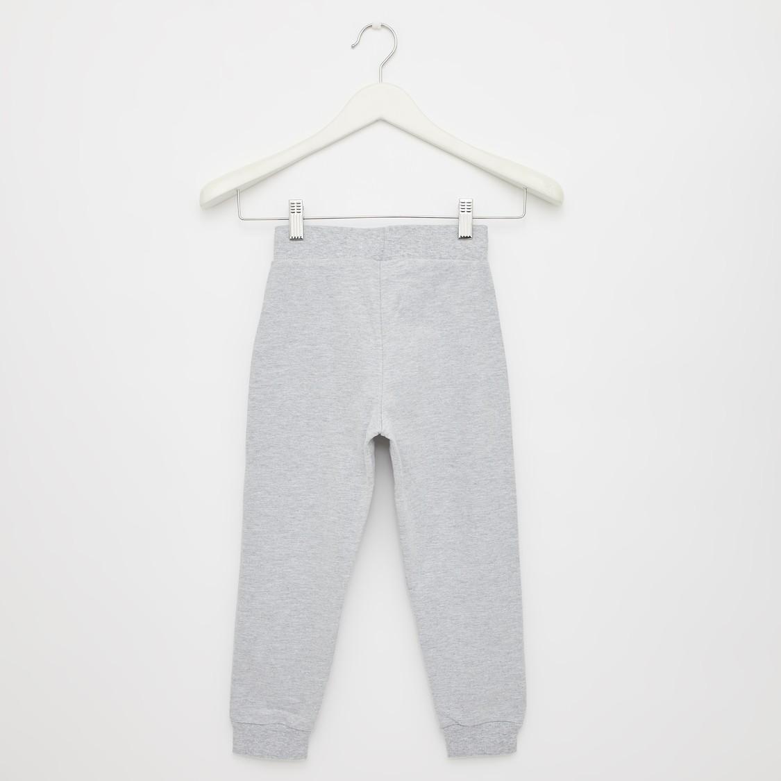 Daisy Duck Print Round Neck Sweatshirt and Jog Pants Set