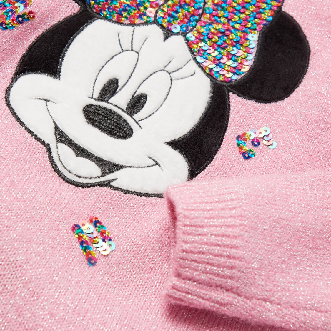 Minnie Mouse Embellished Sweater Dress with Closed Feet Stockings