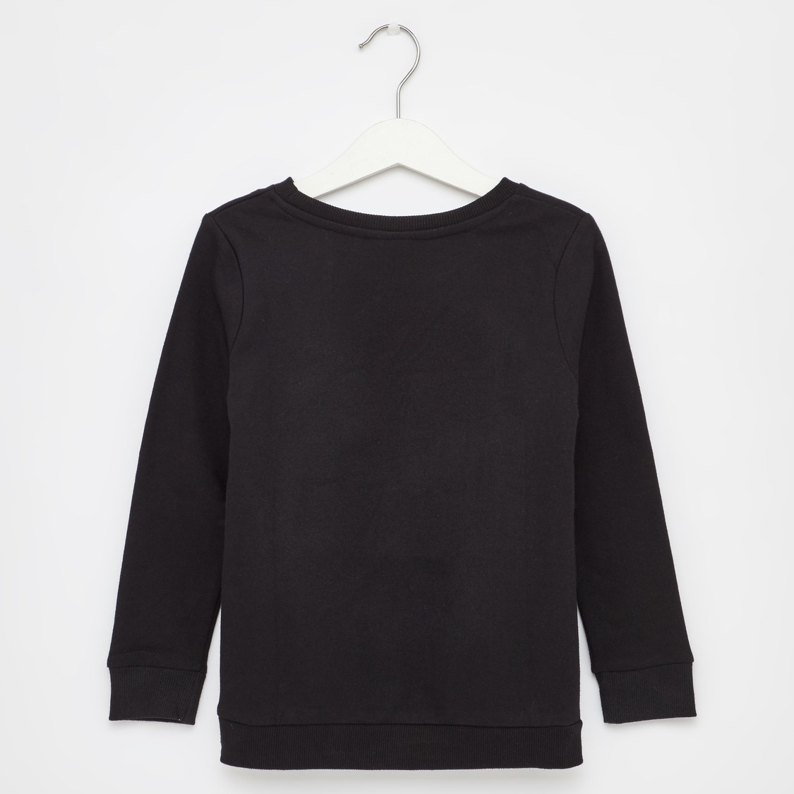 Paris Print Round Neck Sweatshirt with Long Sleeves