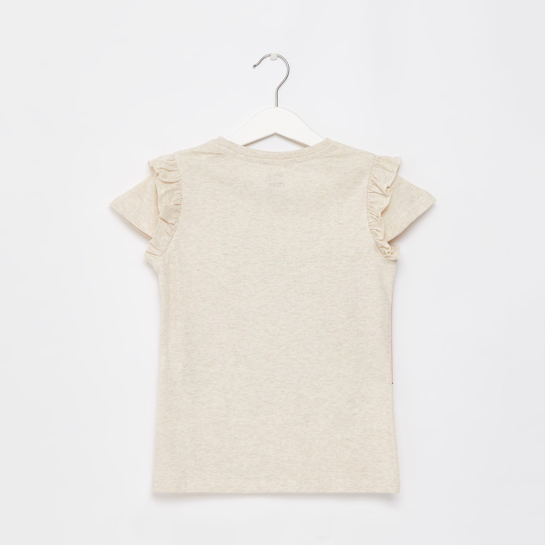 Dumbo Print T-shirt with Cap Sleeves and Ruffle Detail