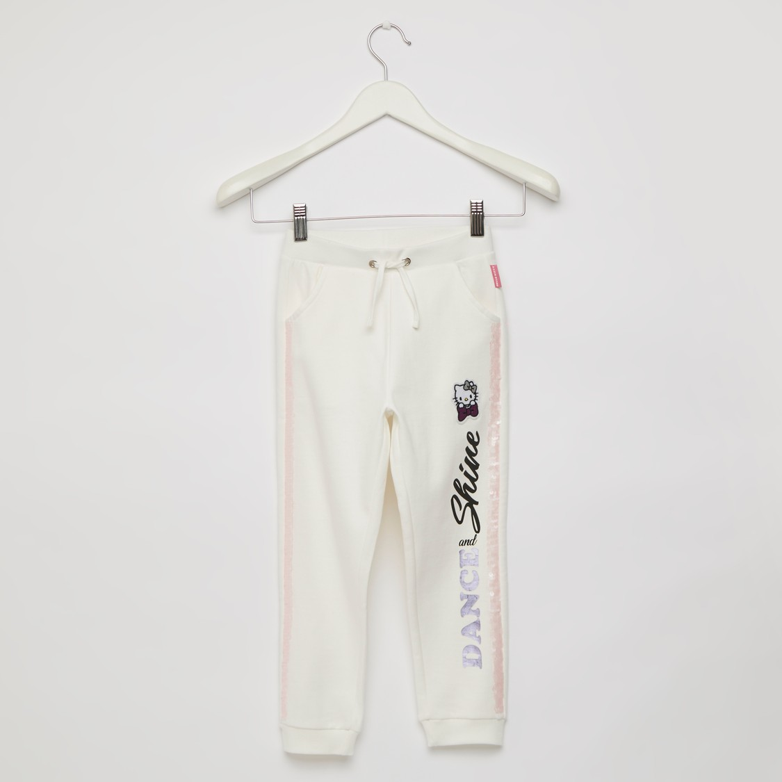 Hello Kitty Graphic Print Jog Pants with Side Sequin Detail