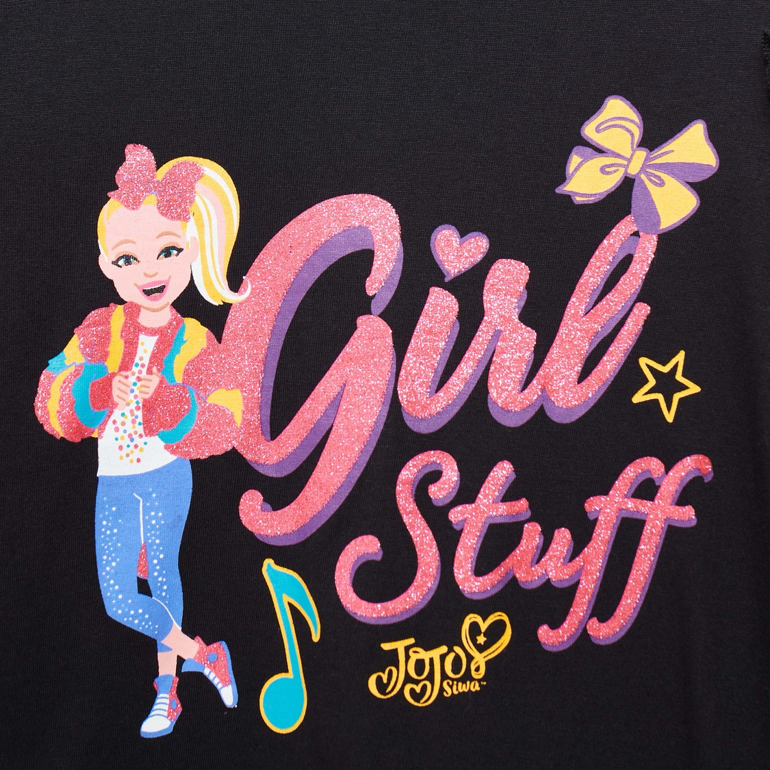 JoJo Siwa Print T-shirt with Long Sleeves and Round Neck