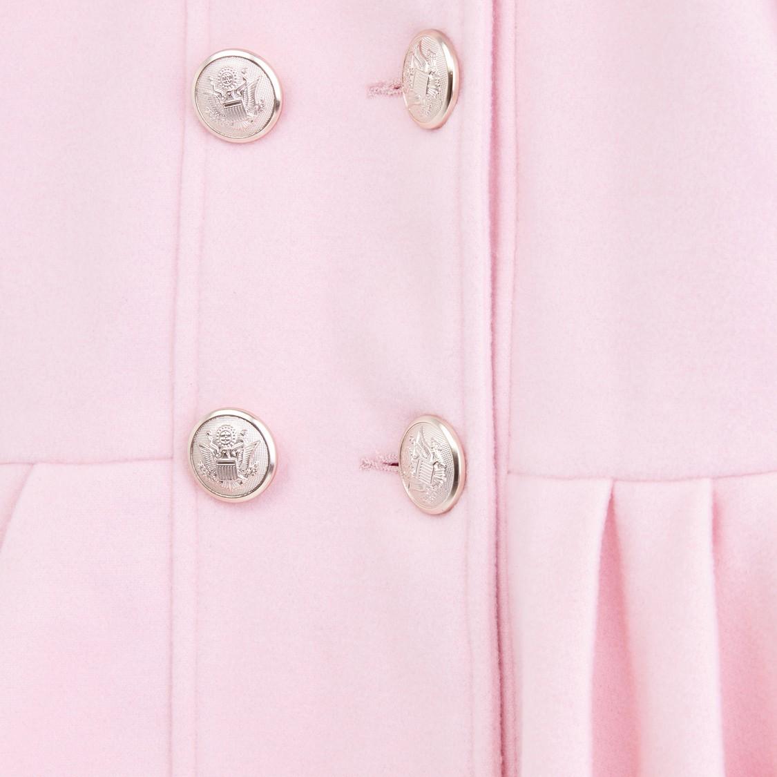 Embellished Plush Collar Long Sleeves Jacket