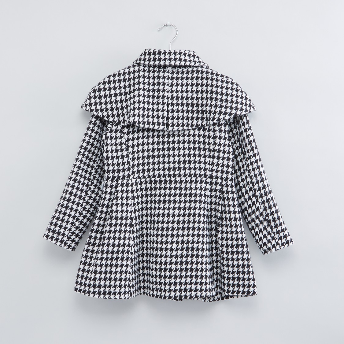 Chequered Long Sleeves Pocket Detail Jacket