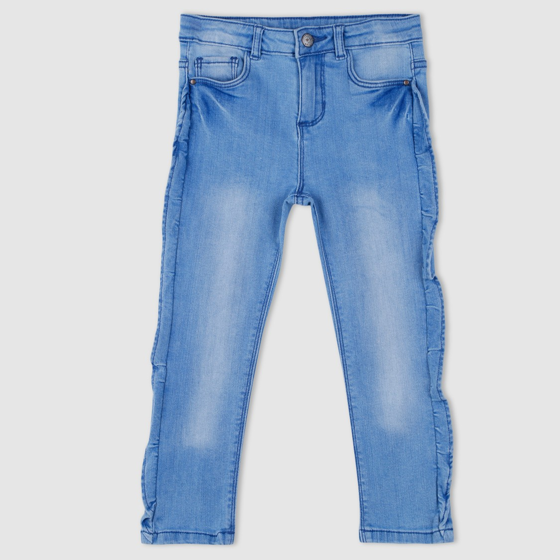 Full Length Jeans with Frill Detailing