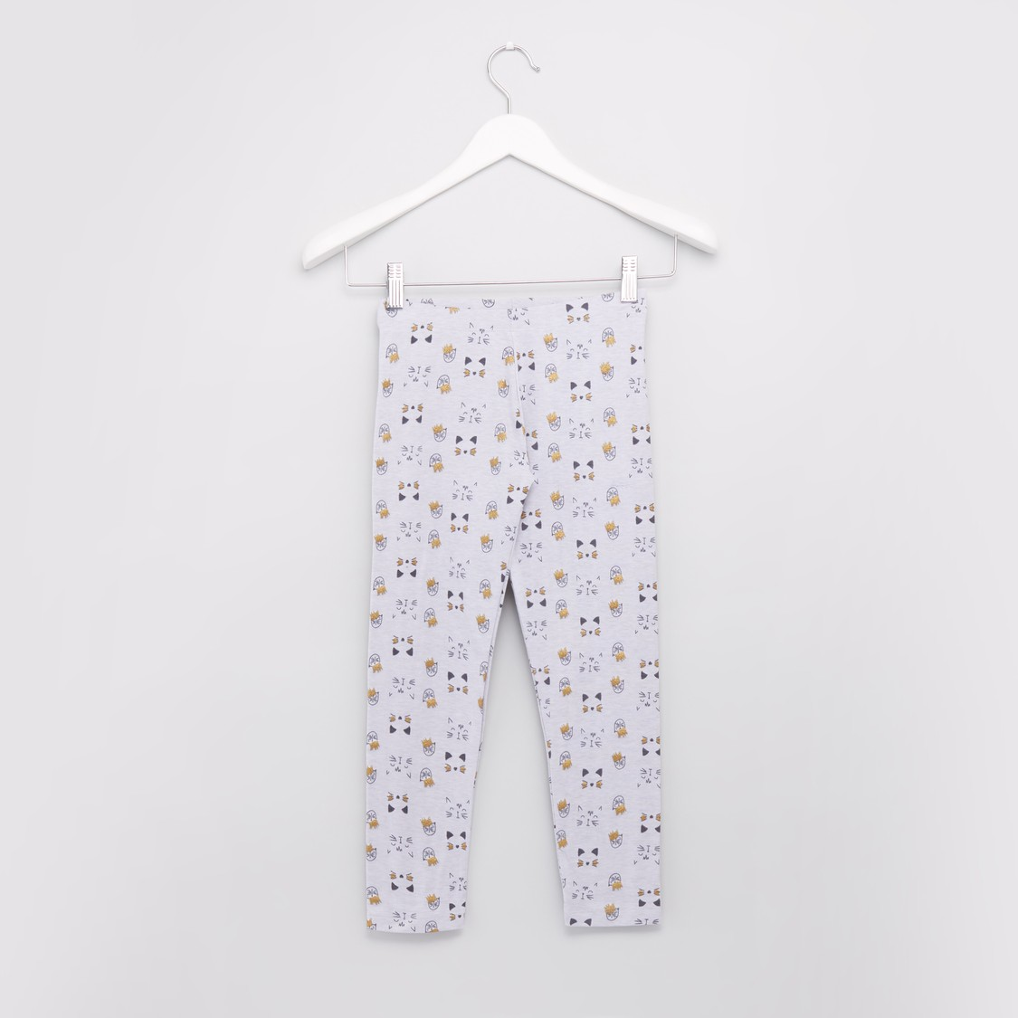 Graphic Printed Legging with Glitter Detail