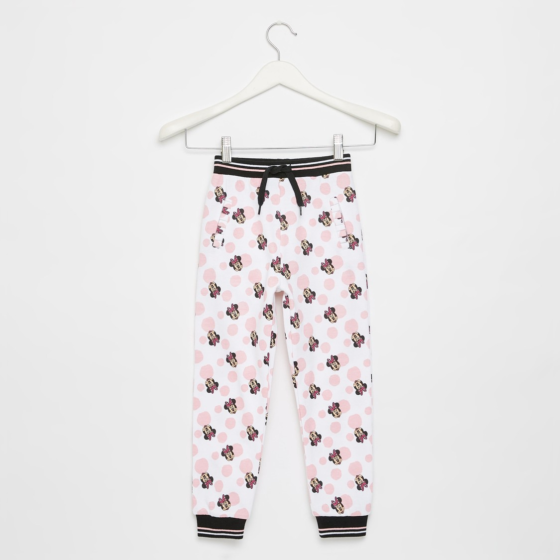 All-Over Minnie Mouse Print Jog Pants with Drawstring Closure